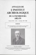Annales De L'Institut Archéologique Du Luxembourg Arlon. - Culture