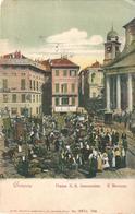 GENOVA - PIAZZA S.S. ANNUNZIATA - IL MERCATO - E - F/P - N/V - PRIMI '900 - I - ANIMATA - Genova