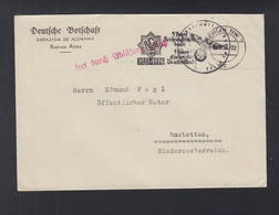 Dt. Reich Botschaft Buenos Aires Nach Österreich - Brieven En Documenten