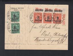 Dt. Reich PK 1923 Randstücke Infla Geprüft - Deutschland
