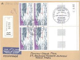 TAAF : Lettre Recommandée Avec Coin Daté Du N°PA 65 (cachet Base Charcot 25è Anniversaire) - Terre Australi E Antartiche Francesi (TAAF)