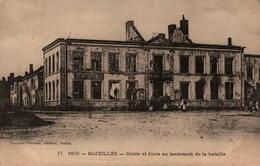08 - BAZEILLES - Mairie Et Ecole Au Lendemain De La Bataille - France