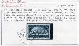 AUTRICHE 1933 ** AVEC FILS DE SOIE - Nuevos