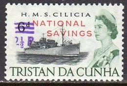 Tristan Da Cunha 1971 National Savings 2½p On 6d Fiscal Overprint Decimal Surcharge, MNH, SG F2 - Tristan Da Cunha