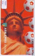 NEDERLAND CHIP PHONECARD CRD-011 * USA LIBERTY STATUE * ABN-AMRO * WK VOETBAL* Telecarte A PUCE PAYS-BAS * NL  MINT - Telefoonkaarten