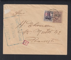 Besetzung Rumänien Romania Brief 1917 Mit Verkehrtem Aufdruck - Occupazione 1914 – 18