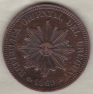REPUBLICA ORIENTAL DEL URUGUAY. 2 CENTESIMOS 1869 A PARIS . KM# 12 - Uruguay