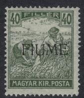 FIUME 1918-19 Mietitori 40f Nuovo TL - Fiume