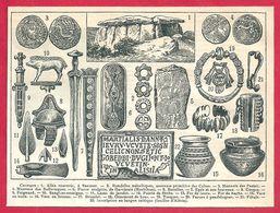 Art, Civilisation Celtique, Celtes, Celte, Larousse 1908 - Vieux Papiers