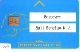 NEDERLAND CHIP TELEFOONKAART CRD-019 * BULL BENELUX * Telecarte A PUCE PAYS-BAS * NL ONGEBRUIKT * MINT - Nederland