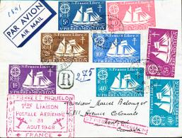 ST PIERRE ET MIQUELON  FIRST FLIGHT  1948 TO MONTREAL - St.Pierre Et Miquelon