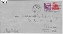 1941 Zensurbrief 203/299 215/327 Rollenmarken Fribourg 2.II.41 To München - Rollen