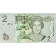 TWN - FIJI ISLANDS 109b - 2 Dollars 2011 Prefix DT - Signature: Whiteside UNC - Figi