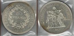FRANCIA 1974 - Liberté, Égalité, Fraternité - 50 Francs SPL / FDC - Argento / Argent / Silver - Conf. In Bust. (3 Foto - M. 50 Franchi