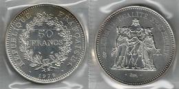 FRANCIA 1976 A - Liberté, Égalité, Fraternité - 50 Francs SPL / FDC - Argento / Argent / Silver - Conf. In Bust. (3 Foto - M. 50 Franchi