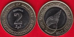 Maldives 2 Rufiyaa 2017 BiMetallic UNC - Maldivas