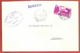 BUSTA VG ITALIA - ESPRESSO - Prefetto Udine - 11 X 17 - ANN. 1957 UDINE POSTA AEREA - RAGOGNA - 6. 1946-.. Repubblica