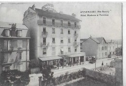 ANNEMASSE  HOTEL MODERNE ET TERMINUS   NOTE AU DOS DEPT 74 - Annemasse