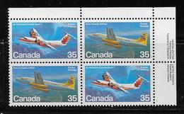 CANADA, 1981, # 906a. AIRCRAFT CANADA, AVION , Block Of 4  MNH - Blocs-feuillets