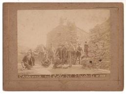 """0341 """"(AO) CAPANNA SUL COLLE DEL THEODULE -TEODULO M. 3322"""" ANIMATA, FOTOGRAFO BIELLESE GIOVANNI VARALE 1859/1921. FOTO - Lieux"""