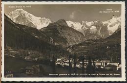°°° 11226 - PANORAMA GENERALE DI PRE S. DIDIER (AO) 1939 °°° - Italia