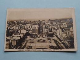Buenos Aires - Panorama Plaza Del CONGRESO () Anno 192? ( See Photo ) ! - Argentina