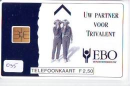 NEDERLAND CHIP TELEFOONKAART CRD-035 * EBO VERZEKERINGEN * Telecarte A PUCE PAYS-BAS * NL ONGEBRUIKT * MINT - Nederland