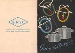 """0344 """"TORINO - G.R.& C.-ROSSI & C. - PENTOLE ALLUMINIO PURO"""" PUBBL. ORIG. - Publicités"""