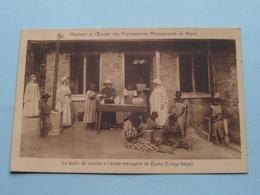Missions Et Oeuvres Des Franciscaines Missionaires De Marie / Ecole BOMA Congo Belge () Anno 1931 ( See Photo ) ! - Missions