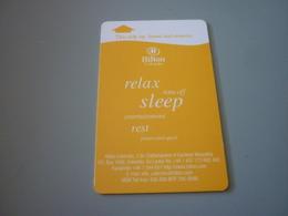 Sri Lanka Colombo Hilton Hotel Room Key Card (orange) - Cartes D'hotel