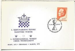 YUGOSLAVIA MAT BEOGRAD 1972 AJEDREZ CHESS - Ajedrez