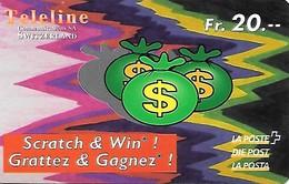 Prepaid: Teleline La Poste - Scrath & Win - Dollar - Schweiz