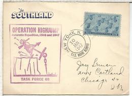 ESTADOS UNIDOS USA  CC 1947 EXPEDICION ANTARTICA RICHARD BYRD MAT USS MOUNT OLYMPUS POLAR ANTARCTIC - Expediciones Antárticas