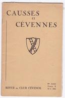 """Revue Du Club Cévenol,""""Causses Et Cévennes """", 69e Année, Tome X, N°4, 1964 - Tourism & Regions"""