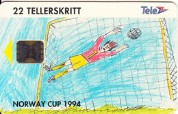 NORWAY - Painting/Norway Cup 1994(033), CN : C46100858, Tirage 2000, 06/94, Used - Norway