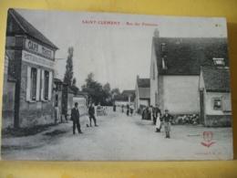 89 9956 - CPA - 89 SAINT CLEMENT. RUE DES FONTAINES - ANIMATION CAFE TABAC TROUE - Saint Clement