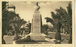 Casablanca .  Monument Dal Piaz .  BELLE CARTE SEPIA .   ANIMATION , Automobile . - Casablanca