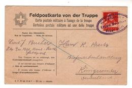 Nr.+  298,  Feldpostkarte Von Der Truppe, Schweiz, Basel Nach Königswinter - Guerra 1914-18