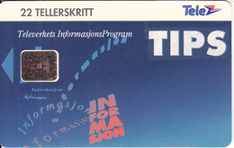 NORWAY - TIPS(021), CN: C3A000571, Tirage 5000, 10/93, Used - Norway