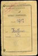 Livret Individuel WW1 1917 Poilu Alsace Colmar Militaria - 1914-18
