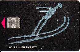 NORWAY - Lilehammer Winter Olympics 1994, Hopp(014B), CN : C42143945, Tirage 9500, 01/94, Used - Norway