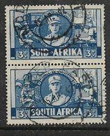 S.Africa 1941, War Effort, 3d, Vertical Pair, Used MODDER EAST  15 AP 42, C.d.s. - Zuid-Afrika (...-1961)