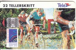 NORWAY - Cycling, Sykkel VM(011), CN : C42143945, Tirage 9000, 01/93, Used - Norway