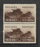 S.Africa 1941, War Effort, 1/=, Vertical Pair, MH * - Zuid-Afrika (...-1961)