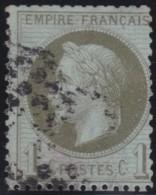 France    .    Yvert   .    25          .     O     .   Oblitéré - 1863-1870 Napoleone III Con Gli Allori