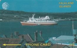 Falkland Islands,  FLK2B, £10,Cruise Ship, 2CWFB, 2 Scans . - Falkland Islands