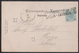 STEIN - LAIBACH, Postconducteur In Zuge, Mailed 1900 - Briefe U. Dokumente