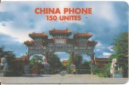 CARTE PREPAYEE-1998-150U-CHINA PHONE-PAGODE-Exp 30/04/99-Etiquette Correction N° Tel-T BE- - Frankrijk