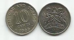 Trinidad And Tobago 10 Cents 1966. High Grade - Trinité & Tobago