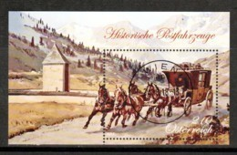 """Österreich 2018: Block """" Historische Postfahrzeuge"""" Gestempelt - Briefmarken"""
